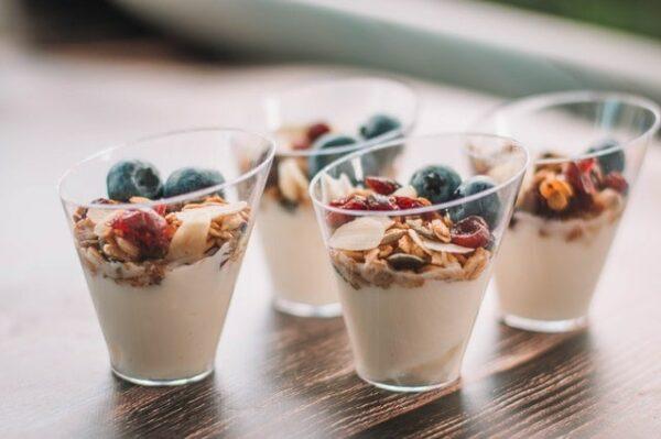 verrines de yaourt et granola