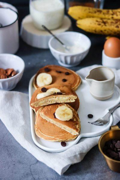 Pancakes fourrés banane-2