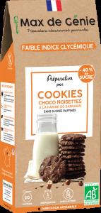 Packaging cookies choco noisettes à la farine de sarrasin